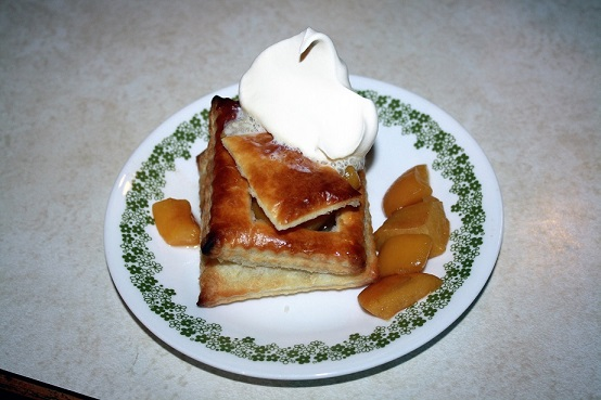 Puff Pastry with Peaches