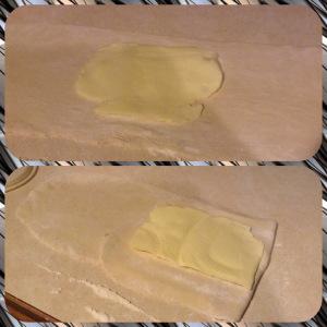 Croissant folding butter