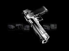 Answer with a desert eagle